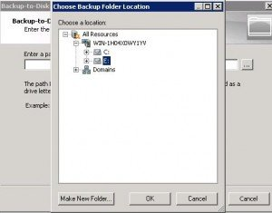 Backup To Disk Location 300x235 Symantec Backup Exec 2010   Removable Backup To Disk Folder