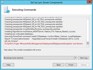 Deployment Wizard 300x227 Microsoft Lync Server 2013   Pool Pairing Issue